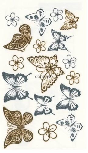 Tatuaż Metaliczny Flash Tattoo Kalkomania Motyle